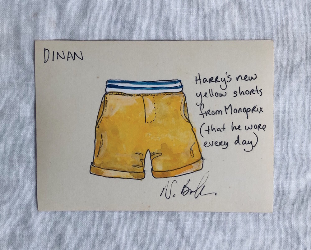 new yellow shorts - We arrived in France from the coldest month of winter in Australia, with very few summer clothes in the suitcase as the children had already grown out of theirs from six months earlier. While riding the carousel in the hot sun the day after our arrival, four-year-old Ralph found his jeans just - too - hot. I popped into the Monoprix and bought him these sweet yellow shorts, which he loved so much that he wore them nearly every day until the end of summer