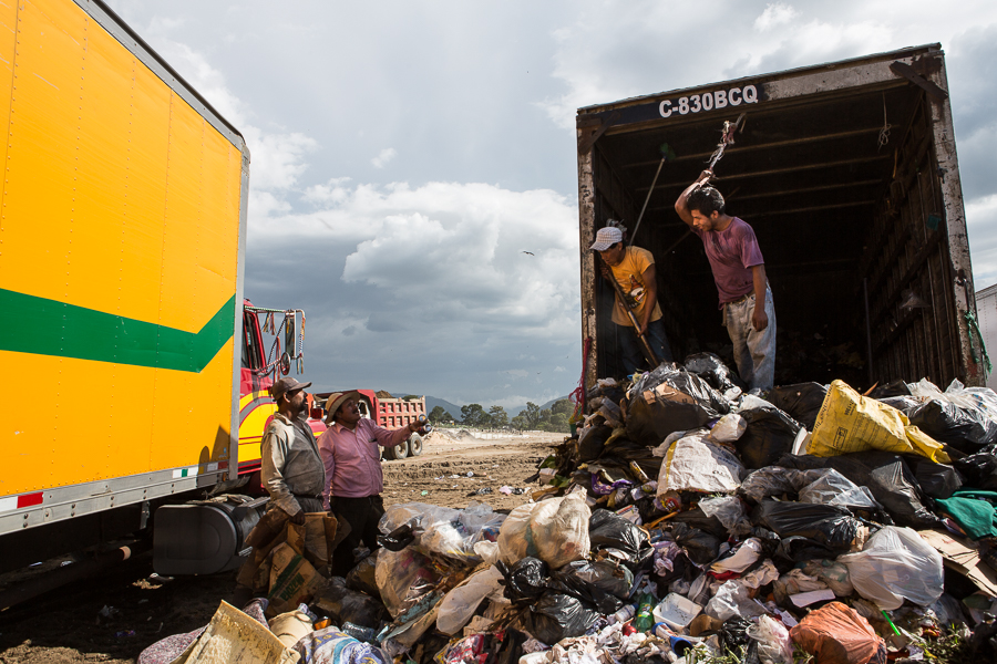 Guajeros and truck drivers all make their living through disposing of other people's waste.   ©Cindy Bajema 2014