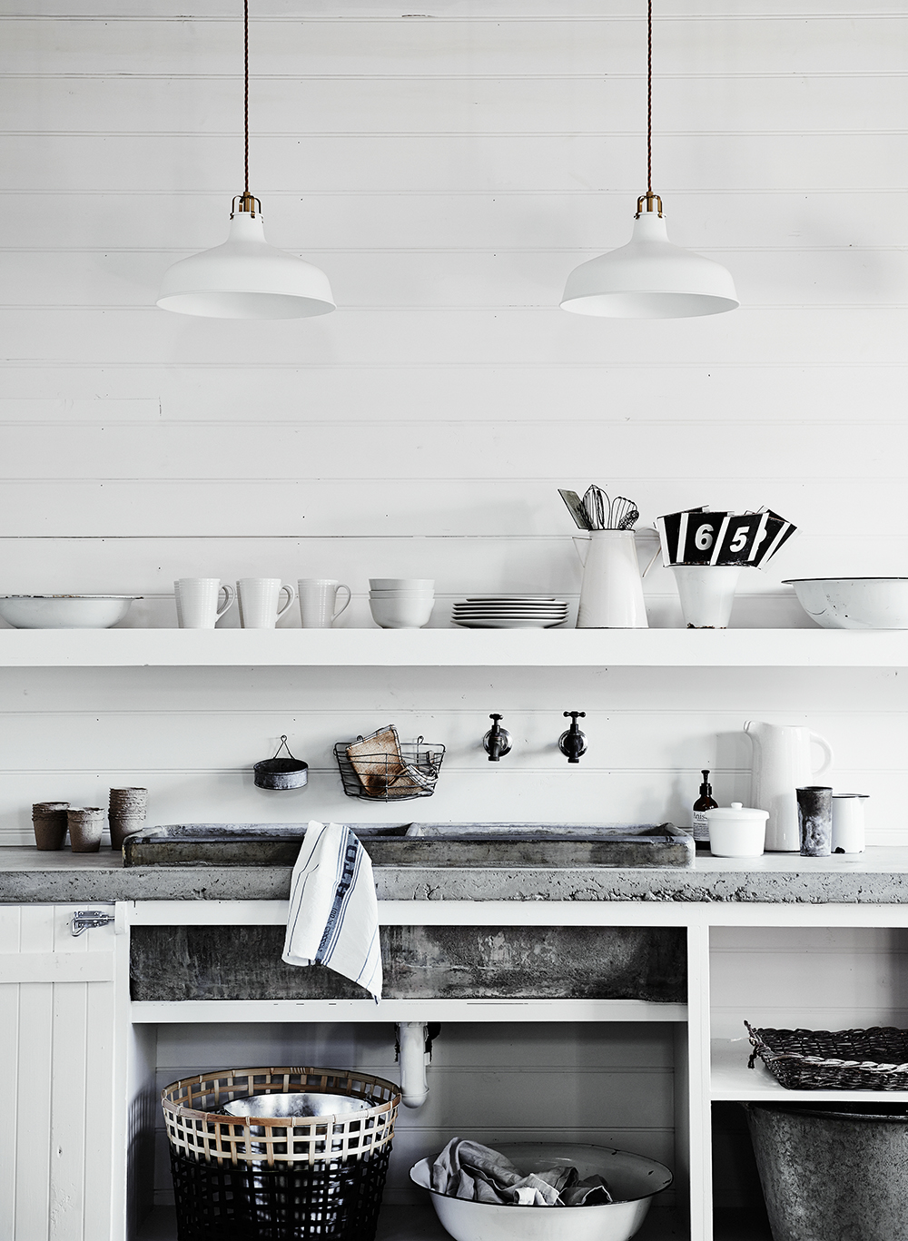 The kitchen at The Estate, Trentham. Image by Lisa Cohen.