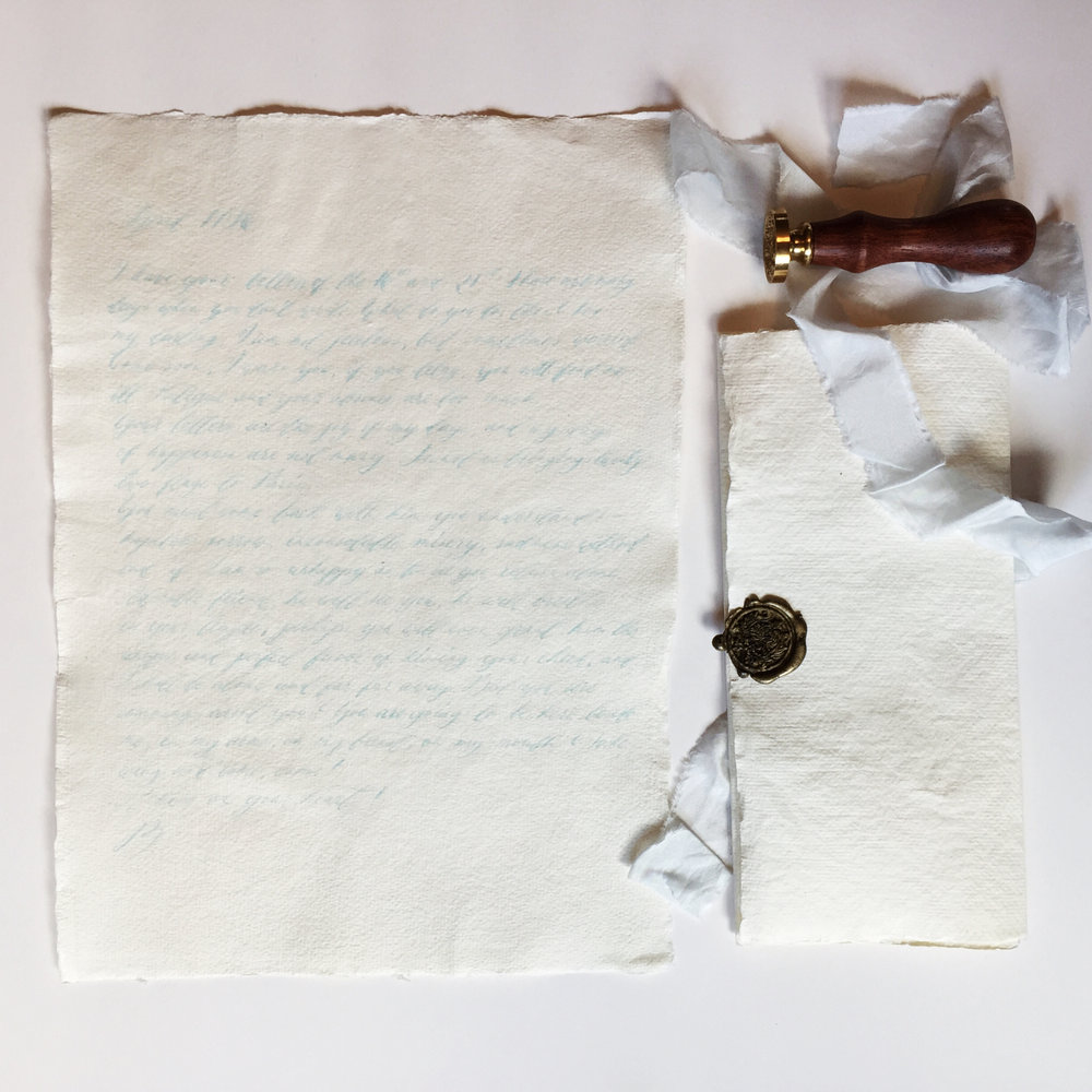 Wax sealed handwritten love letter