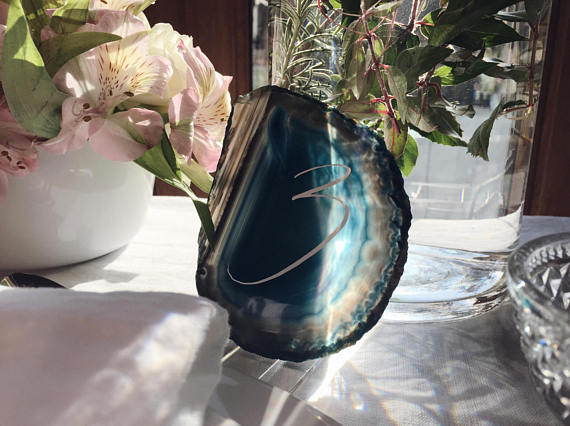 Blue agate table numbers