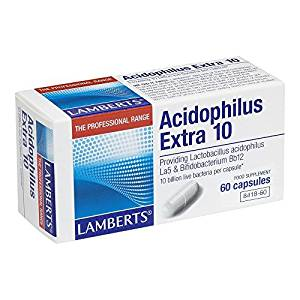 Lamberts Acidophilus Extra 10 billion bacteria - 60 Capsules