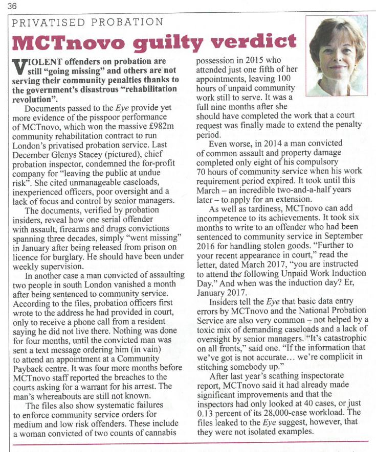MTCnovo guilty verdict    Private Eye | May 2017   With Heather Mills