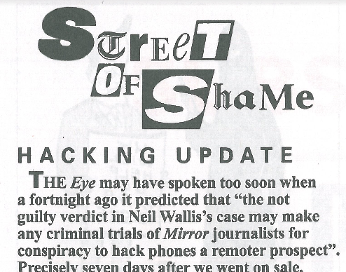 Hacking update    Private Eye | July 2015   With Private Eye journalists