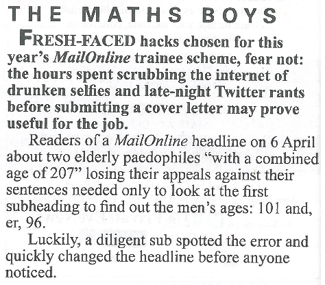 The Maths Boys (II)    Private Eye | April 2017