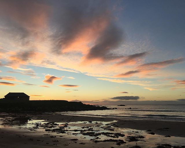 Machrihanish Golf Club 1st tee autumn sunset. #machrihanishgolfclub #machrihanish #kintyre