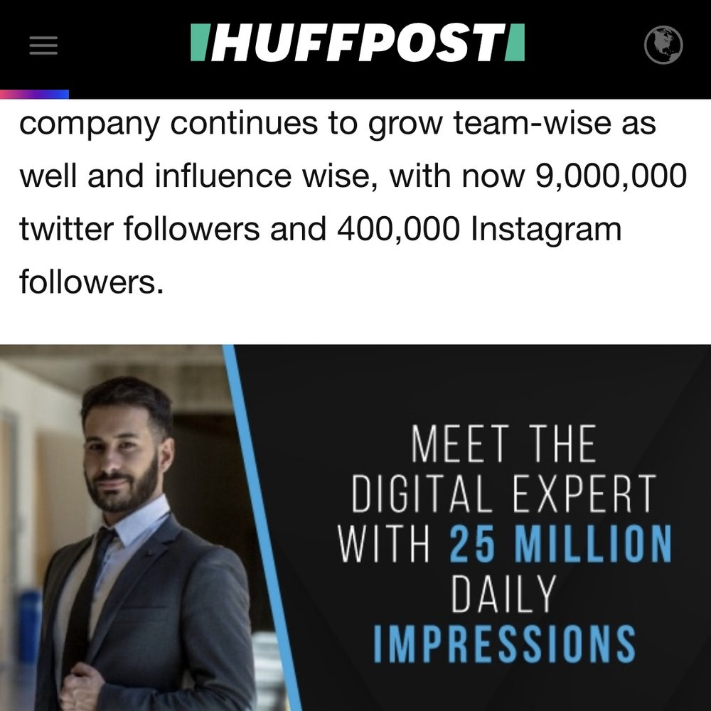 It was a pleasure speaking with   The Huffington Post   about digital marketing! Looking forward to hopefully being interviewed again about the campaigns that we are running in the future!