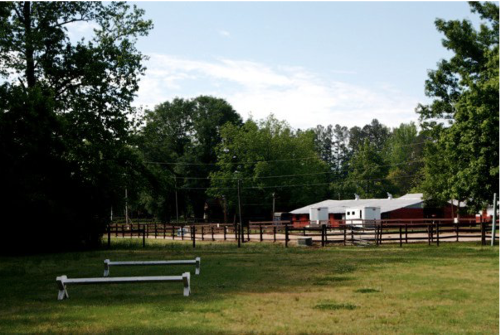 Broodside Farms Horse Pasture with Red Barn