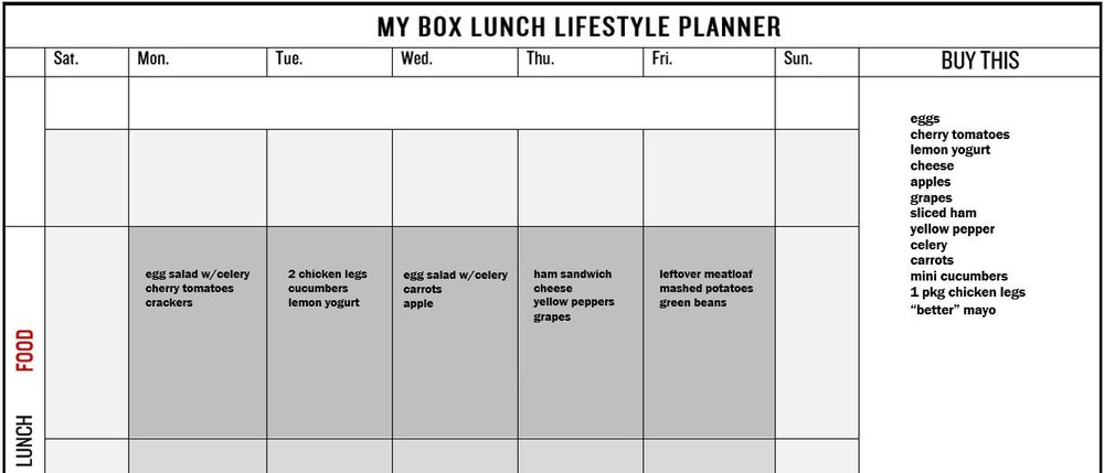 Your planner could look like this, for example.