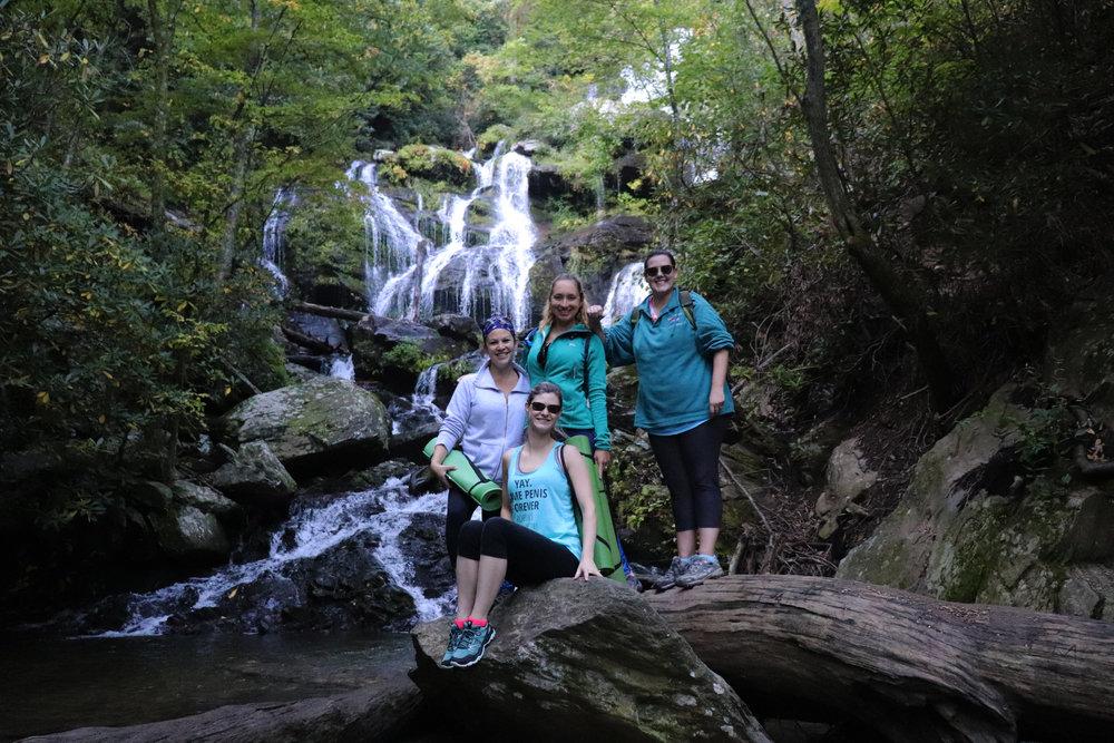 bachelorette waterfall yoga hike.JPG