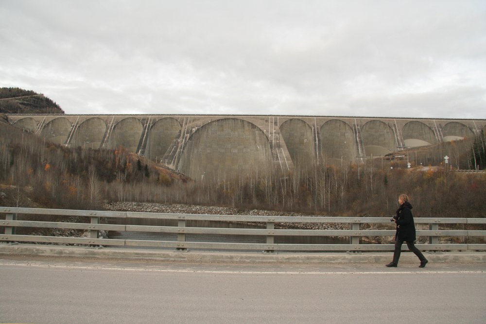 Then north, to the Manic Cinq hydroelectric dam