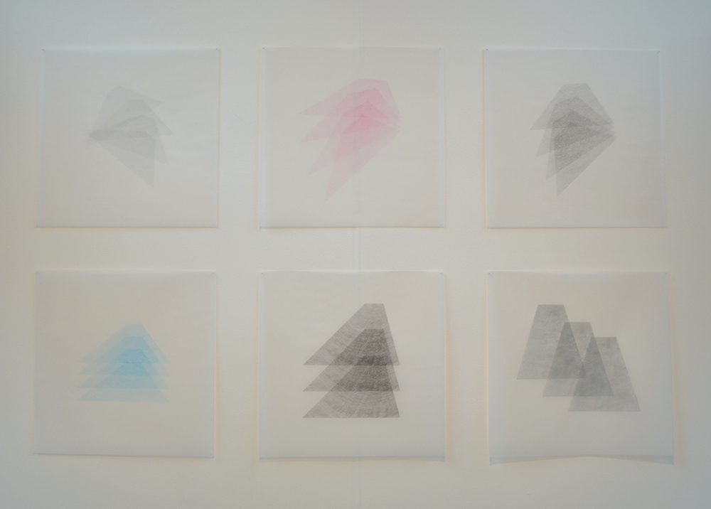 Overflow , series of screen prints on tracing paper