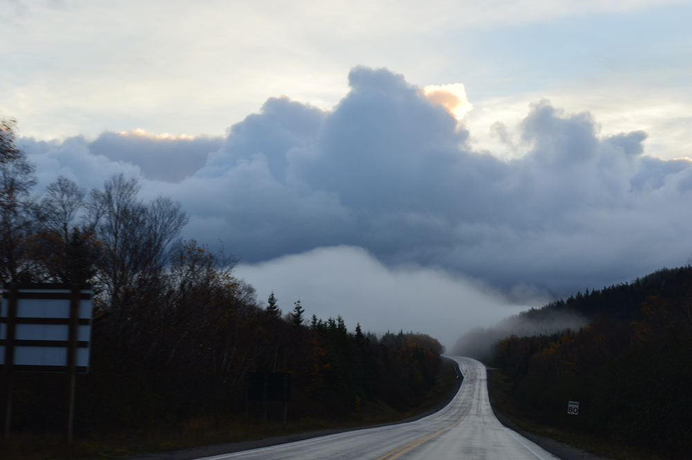 Onwards through cloud; Gros Morne National Park, Newfoundland.