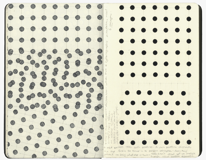 Found some dot stickers which are exactly the right diameter to replicate the ratios of Paul's 'classic' dot grids.