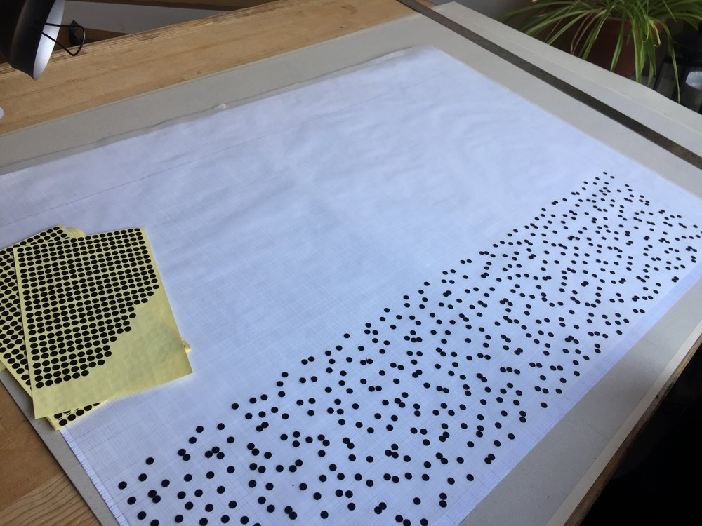 Individually dotting the dots - for NSQ100 pattern