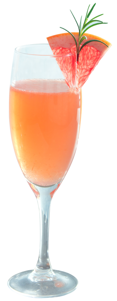 GRAPEFRUIT MIMOSA - 2 parts grapefruit Spiritfruit, one part Prosecco