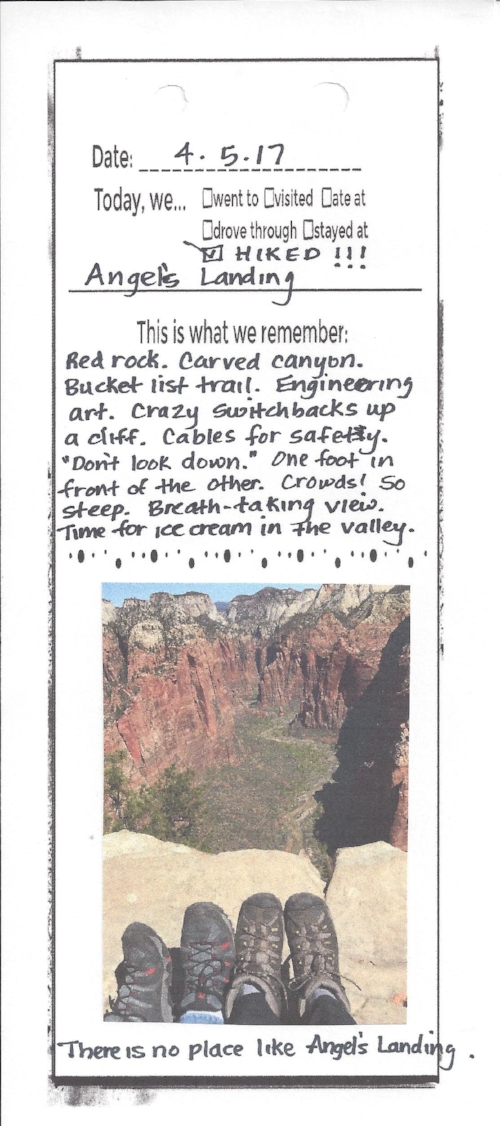 Here's another sample. - On this one, I just wrote the list of words, and put a picture in the bottom half instead of more writing.But, I still kept the last line. With every new page, that repeated line creates a pleasing rhythm.Thanks, Cynthia Rylant!