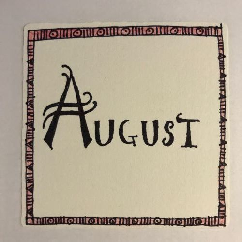 Zentangle Border with Month in the Middle -