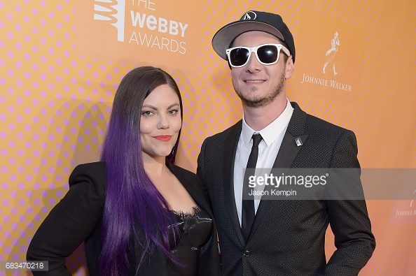 Rob and Corinne on the 2017 Webby Awards Red Carpet.