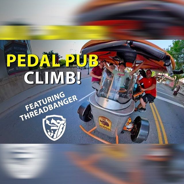 ‪For Today's #TBT, check out a torturous Pub Cycle we did with @sethsbikehacks a little while ago. Pretty sure we're never going to recover from this one. Link in bio! 🍺🚴🏻‍♀️🚴🏻‍♂️‬