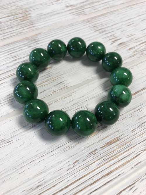 catawiki dark green jade end century bracelet kavels china
