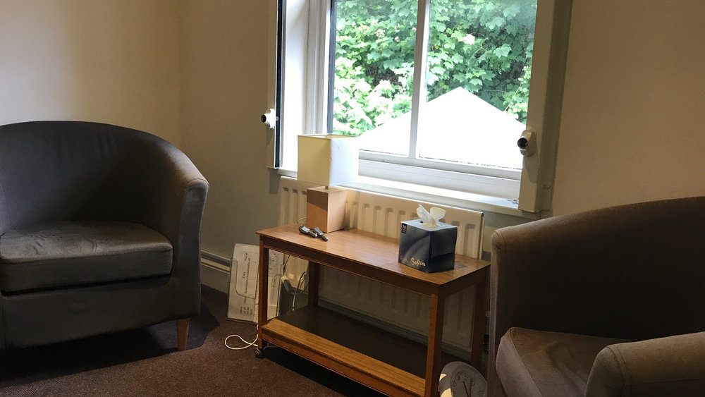 One of our counselling rooms, we have seven avaliable.
