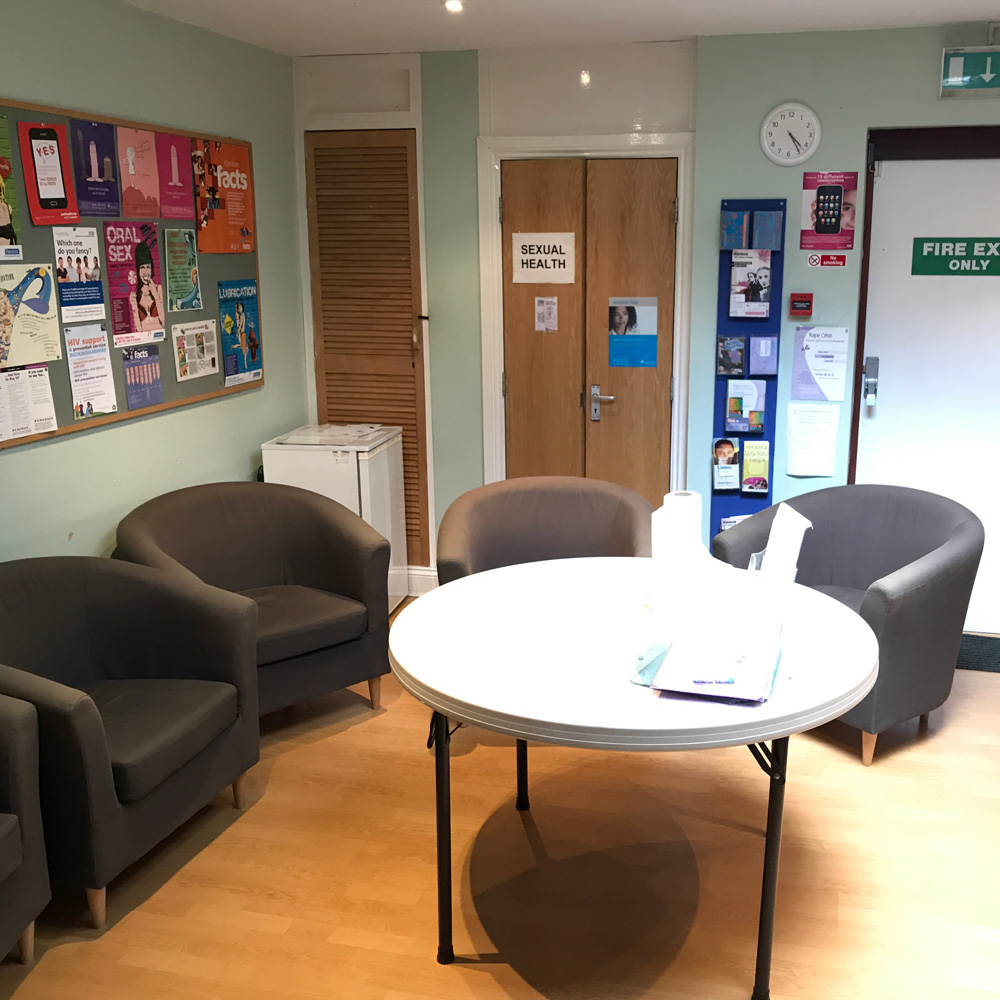 Our group room allows us to provide sexual health advice to multiple young people.