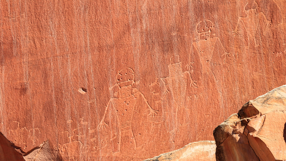 Fremont culture petroglyphs