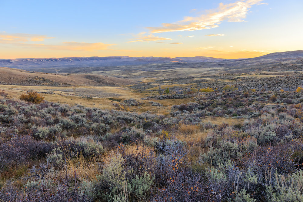 Sunset, Fossil Butte National Monument, Wyoming