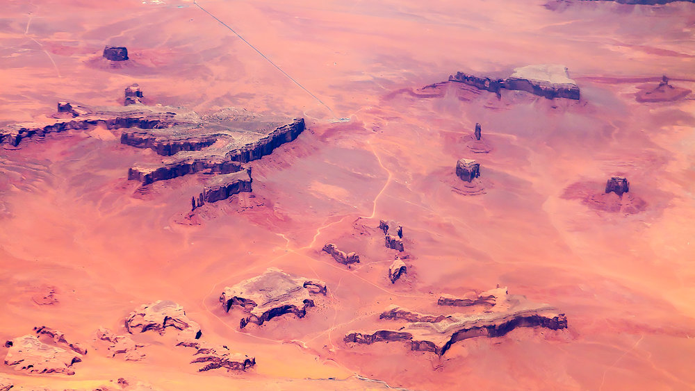 Monument Valley at 30,000 feet