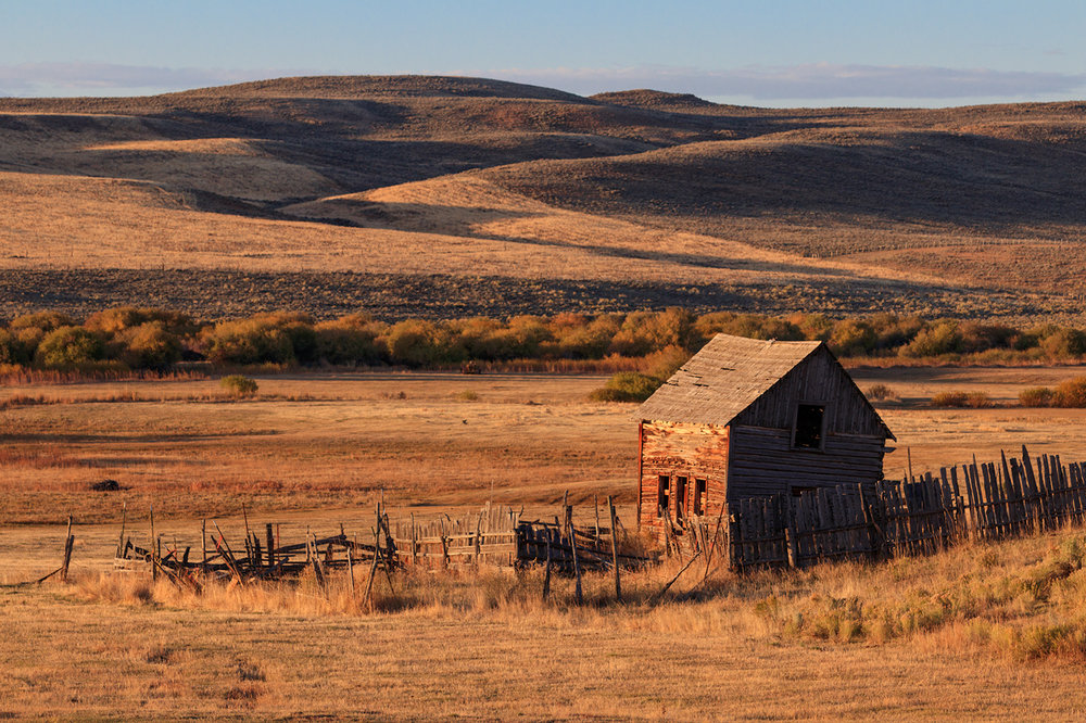 ranchland, Highway 89, Wyoming