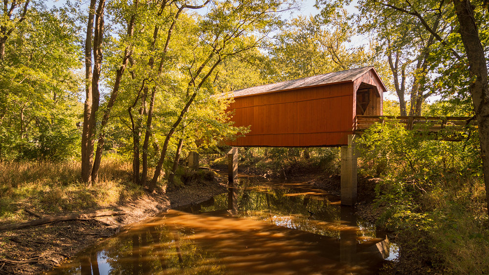 Sugar Creek covered bridge, Sangamon County, Illinois
