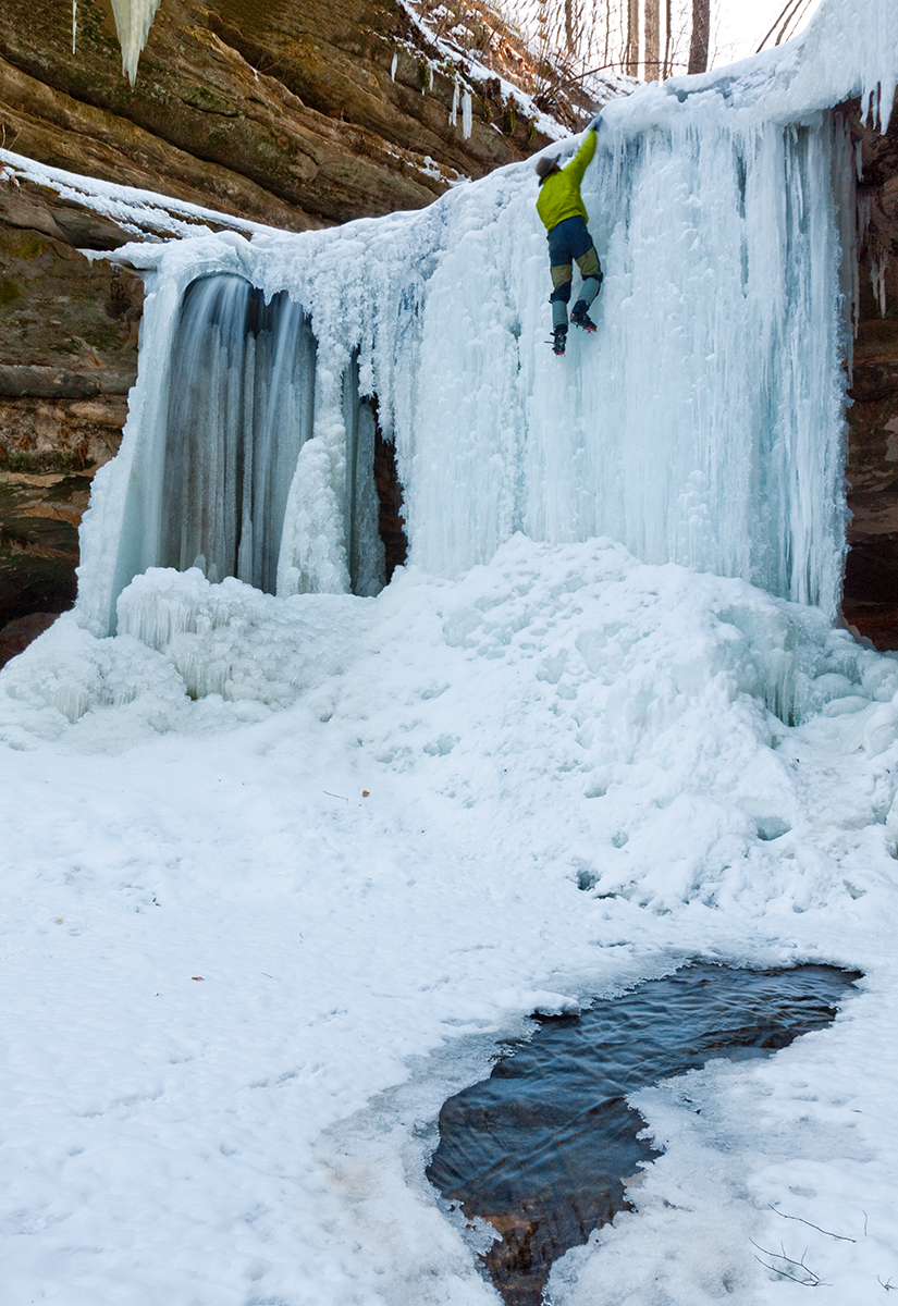 Ice climbing, LaSalle Canyon, Starved Rock State Park