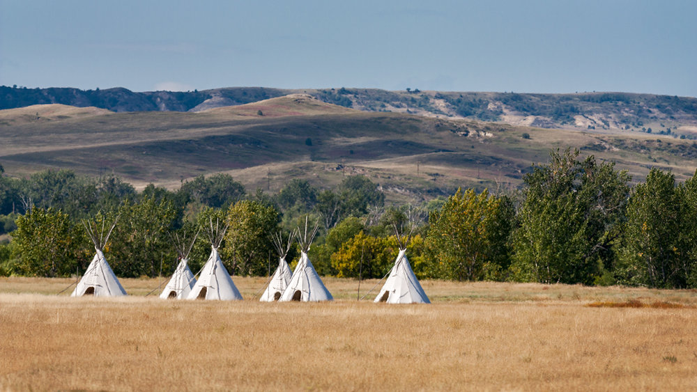Tee pees, Ft. Union National Historic Park, North Dakota