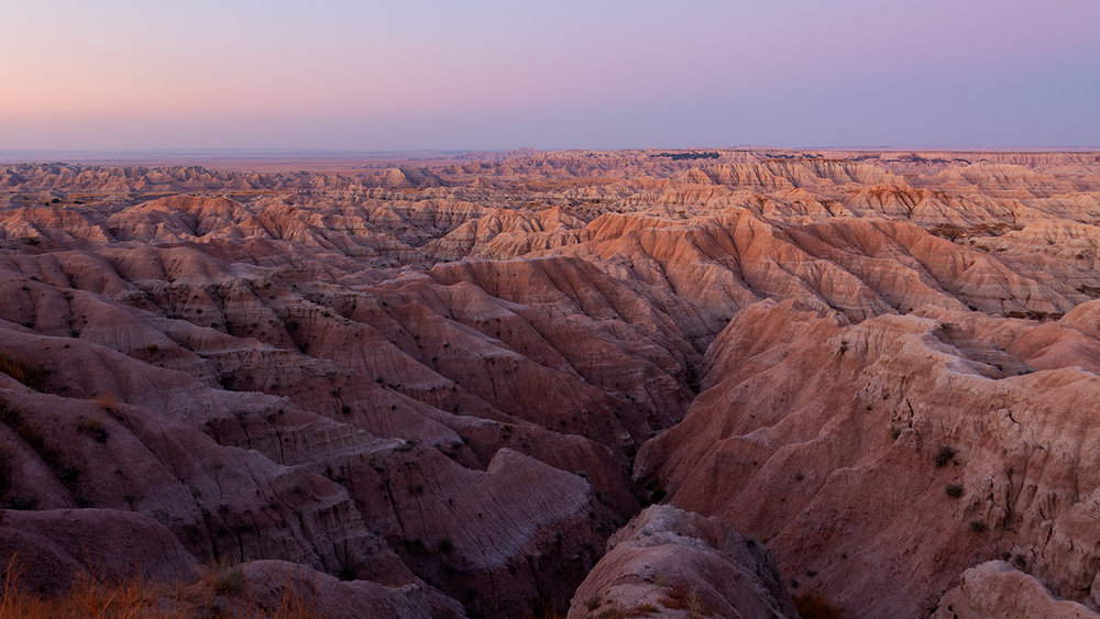 Dusky glow, Badlands National Park