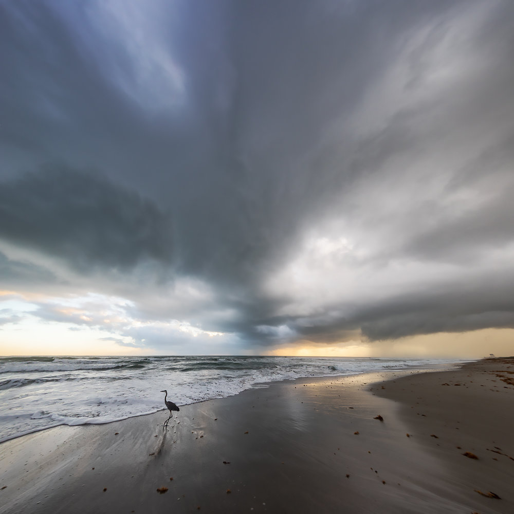Melbourne Beach storm clouds