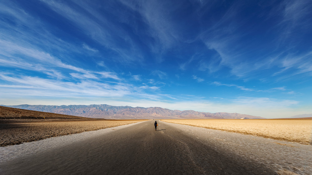 Salt flats and Panamint Range, Death Valley, California
