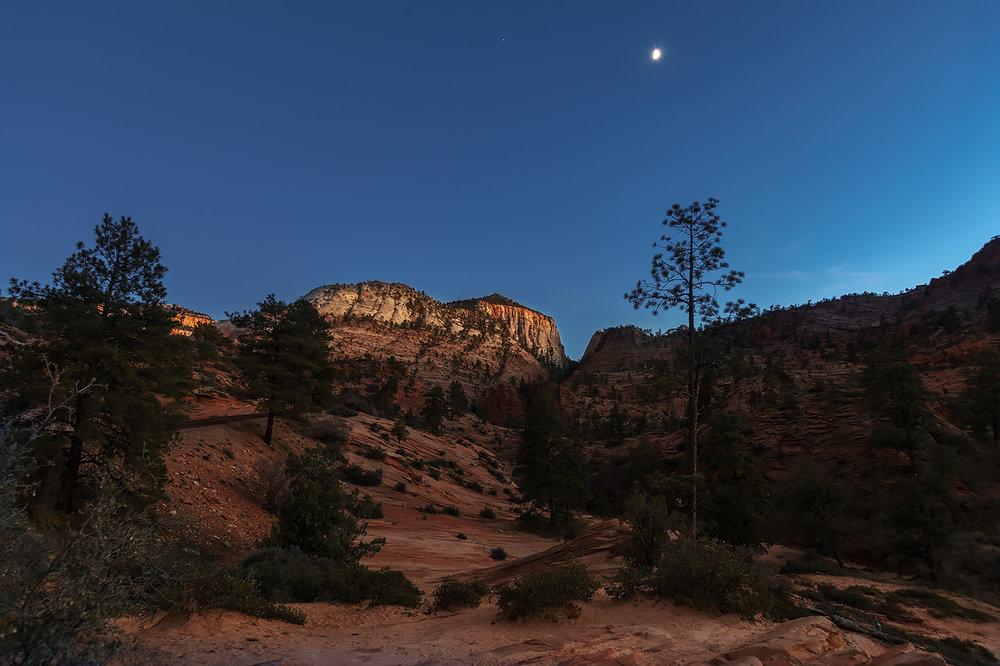Southeast view, Zion National Park