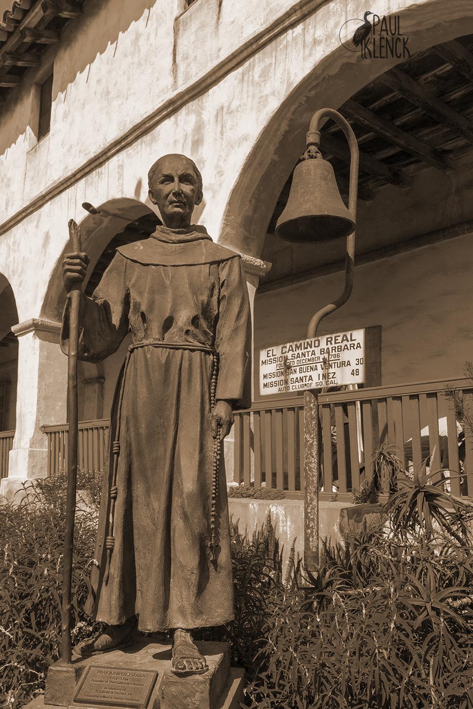 Saint Junipero Serra, Mission Santa Barbara, California