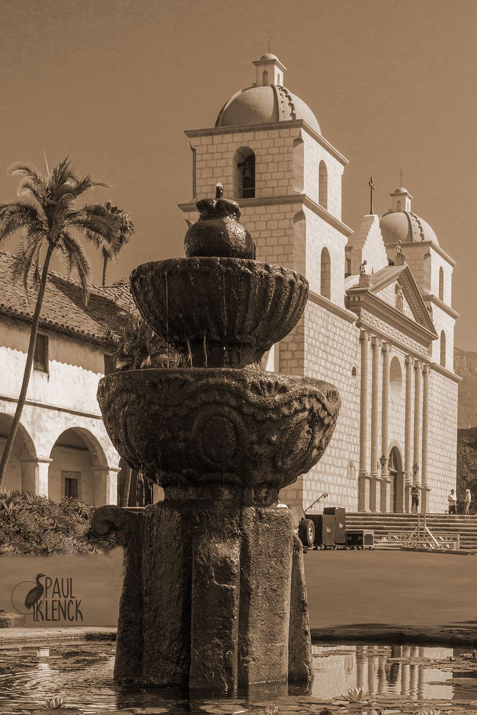 Moorish Fountain, Mission Santa Barbara