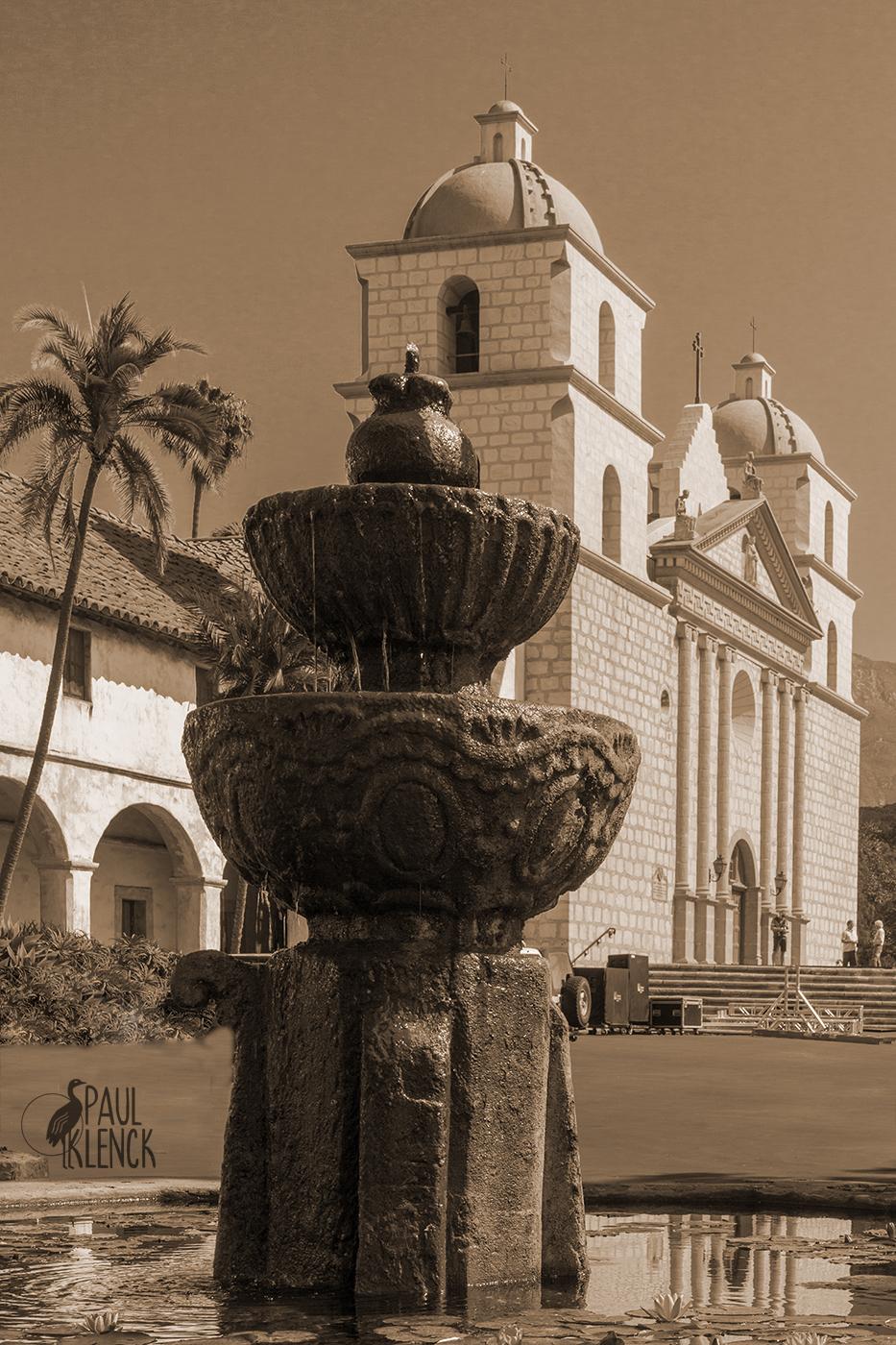 Moorish Fountain, Mission Santa Barbara