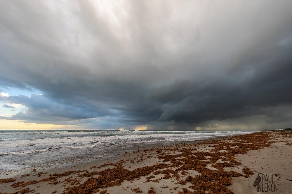 Sunrise storm, Melbourne Beach, Florida
