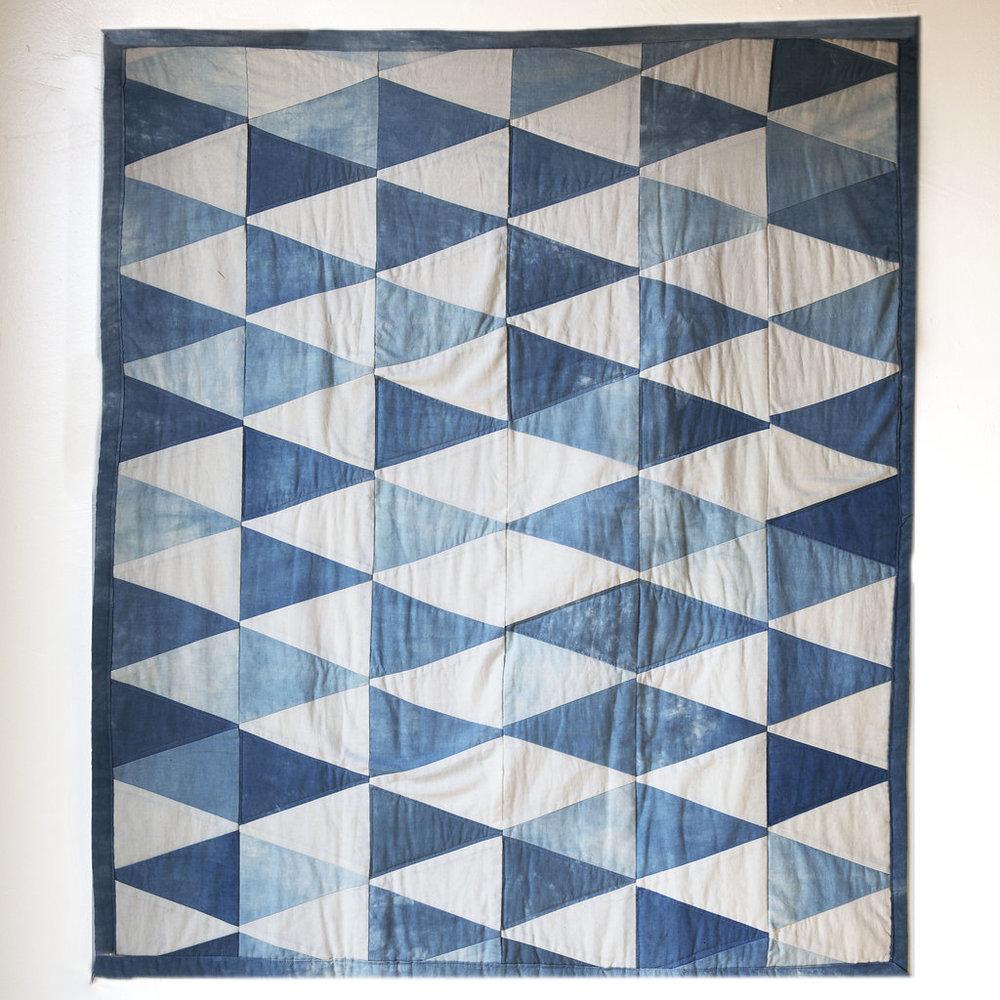 Indigo Triangle Quilt