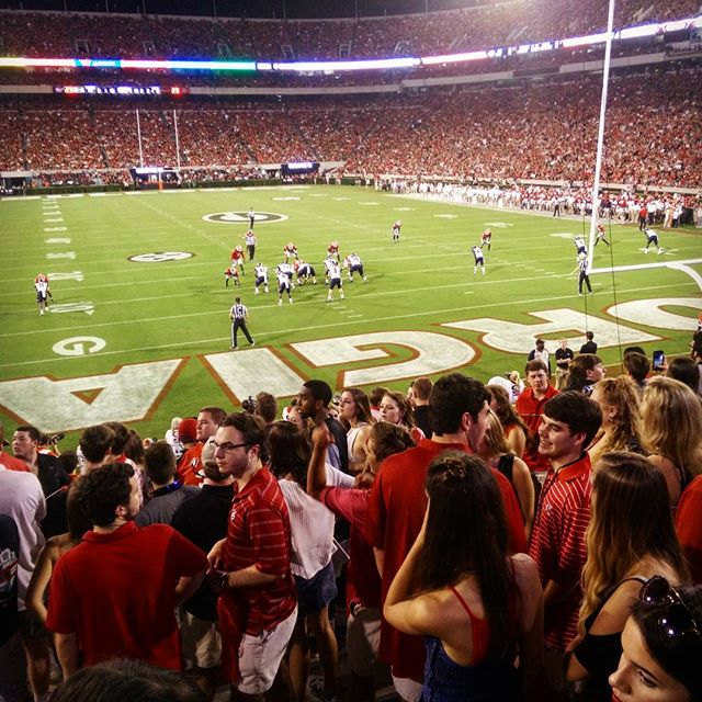 42-14 #UGA First ever college football game was a blast.
