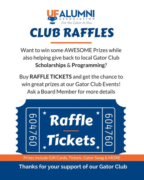 Raffle Ticket(s) - Gator Rompin\' — Tampa Gator Club