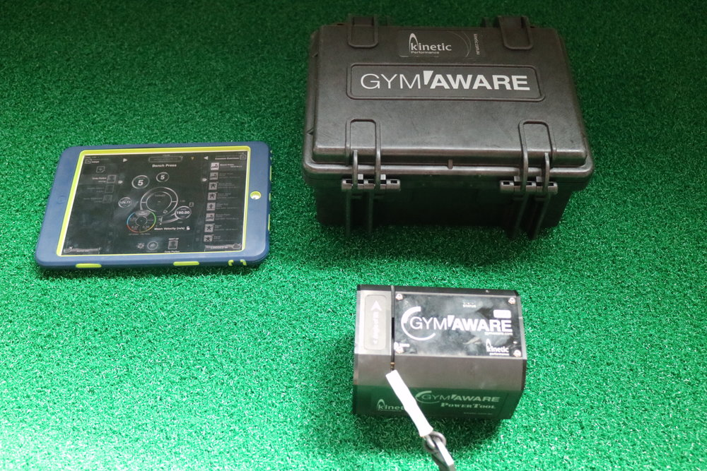 The Gymaware measures...everything. You won't find many facilities with this device.