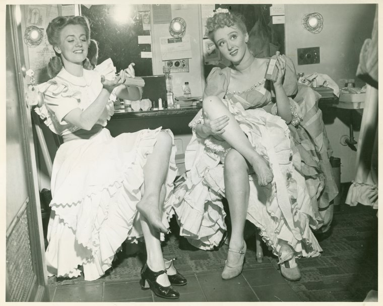 Joan Roberts and Celeste Holm