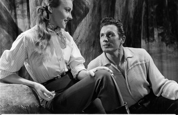 "The delicious duo: Anne Jeffreys and John Raitt in the 1952 Musical ""Three Wishes for Jamie"""