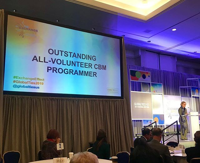 Our very own, Jim Byrum, was nominated for the Excellence in #IVLP Outstanding All-Volunteer Programmer @ the #GlobalTies2019 #ExchangeEffect National Meeting! Congratulations to Dorothy Riddle, Boulder Council for Int'l Visitors for getting award and to all the nominees!