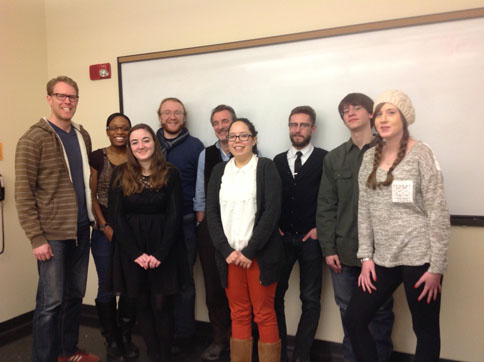 Kevin Holohan, novelist, with graduate students from Contemporary Irish Literature, March 4, 2014